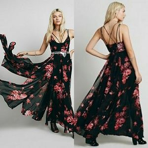 Free People Winter Garden Floral Maxi Dress